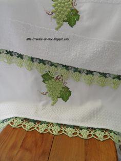 Rendas da Mãe: Barrado uvas Napkins, Ely, Veronica, Crochet Edgings, Bath Linens, Dish Towels, Made By Hands, Articles, Rag Rugs