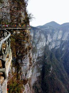 Мастерок.жж.рф - Стеклянный мост на горе Tianmen