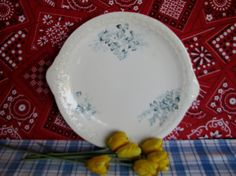 Dresden China Cake Plate Vintage 1920's by LucyBettyNJune on Etsy, $20.00