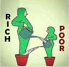 That's a much better representation of trickle down economics....