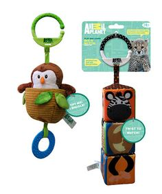 Take a look at this Animal Planet Owl & Mix 'n' Match Jungle Teething Toys Set by Animal Planet on #zulily today!
