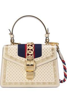 eb7d1b0a99f Gucci Mini Sylvie Moon   Stars Leather Shoulder Bag