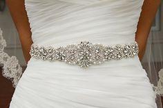 Crystal sashes for wedding, Wedding Bridal Belt, Braided Rhinestone Sash - Weddings and Events