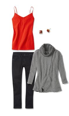 Check out five unique ways to mix and match the Fergie Turtleneck with other cabi items!