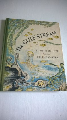 FINAL SALE CLEARANCE The Gulf Stream by Ruth Brindze Vintage Summer Science Kids Children Ecology Biology Zoology Picture Book Beach Library