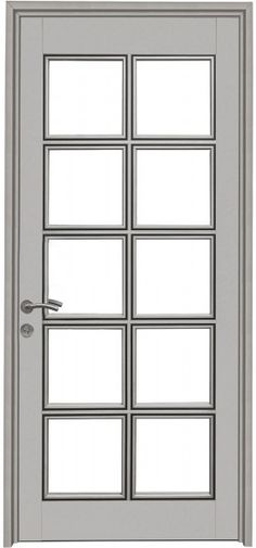Puerta de aluminio recamara pinterest puertas de for Puerta entamborada