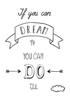 Disney quotes, walt disney quote, dream it do it, calligraphy quotes disney,