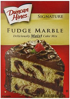 Duncan Hines Cake Mix Fudge Marble 165 Ounce Pack of 12 -- See this great product.
