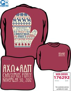Such a cute Christmas party t-shirt!