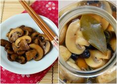 Pickled wild mushrooms sour
