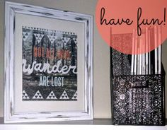 Distressed Picture Frame DIY