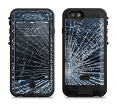 The Shattered Glass Apple iPhone 6/6s LifeProof Fre POWER Case Skin Set