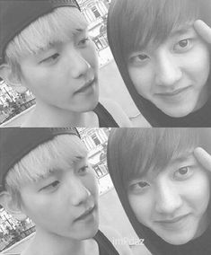 D.O: ill act cutely for the camera, look Baek: if you do it like that I'll have to do something. xD #Baeksoo