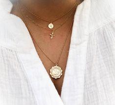 e4b63683669 Christopher Medallion- 14k gold filled St. Christopher necklace, Saint  Christopher, travel necklace, gold coin necklace, medallion