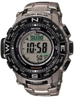 5b457674a68 Casio Protrek Digital Atomic Tough Solar Triple Sensor PRW-3500T-7D Watch  Casio Military