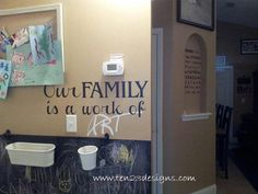 Our Family is a Work of Art vinyl wall decal by www.ten23designs.com $25