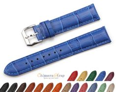 CHIMAERA 18 20 22mm Genuine Leather Watch Strap band for Men Women Ladies Watch