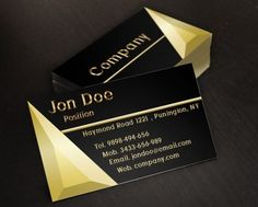 Free Black Designer Business Card Templates Designed On A Black - Jewelry business cards templates free