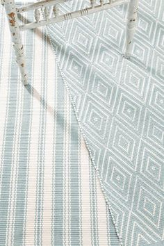 Dash and Albert Rugs Woven Coastal Living Light Blue/Ivory Indoor/Outdoor Rug
