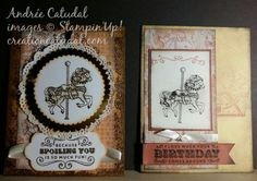 Carousel Birthday copper Stampin Up #OnStage2016