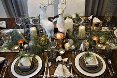 Rustic Winter Christmas Table Setting - Home with Holliday