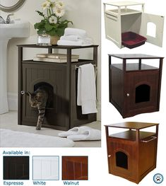 Cat Washroom for hiding the litter box.  Very decor friendly!