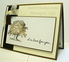 stampin up, sympathy card, lovely as a tree