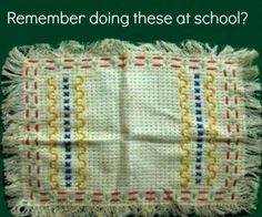 First Sewing lessons remember doing these in junior school! 1970s Childhood, My Childhood Memories, Sweet Memories, Belle Epoque, Good Old Times, Sewing Lessons, Old Toys, My Memory, Old School