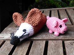Ratte und Glücksschwein