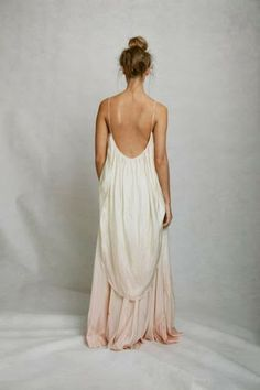 open back maxi dress with blush ombre coloring