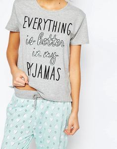 6182fd207e Image 3 of New Look Love Heart Pajamas Pajamas All Day