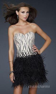 Zebra Striped a night in the town dress
