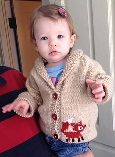 Little Critter Cardigan on Ravelry.  There are 6 different animal motifs to choose from - so choose one, or create your own woodland parade!