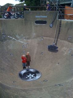 Sink/ drain 3D Chalk Art ... Street Art