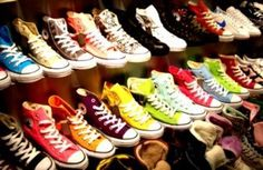 I want Converse in every color. I'd wear nothing but them.