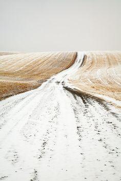 North Dakota country road ...