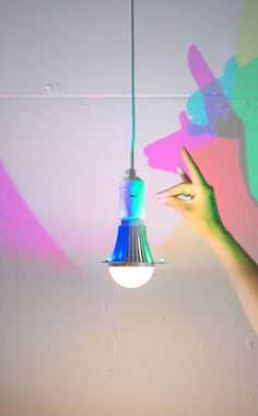 Have you ever seen colored shadows? The CMYK Colour Light Bulb is the first light bulb that gives colored shadows. In addition, it has a white light source that shines downwards. The CMYK bulb is usablein any existing lampshade, but can also be hung separately in space. The CMYK Bulb is also available with a [...]