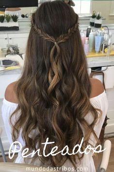 Cute Hairstyles For Medium Hair, Plaits Hairstyles, Bride Hairstyles, Medium Hair Styles, Quince Hairstyles, Office Hairstyles, Stylish Hairstyles, Hairstyles Videos, Hairstyle Short