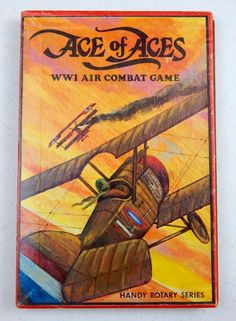 Ace of Aces WWI Air Combat Game Handy Rotary Series First Edition w Instructions #Nova