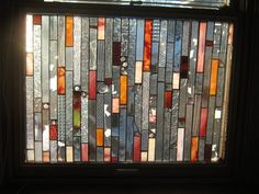 GLASS CURTAINS stained glass panel curtains by stanfordglassshop, $350.00