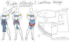 Kida costume final patern layout by Venray