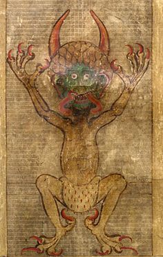 Codex Gigas, otherwise known as 'the Devil's Bible', is the largest and probably one of the strangest manuscripts in the world. It is so large that it is said to have taken more than 160 animal skins to make it, takes at least two people to lift it & measures approx 1 metre in length. Legend says the medieval manuscript was made out of a pact with the 'devil'.Written in Latin in 13th century AD, the origin of the manuscript is unknown, possibly from the monastery at Sedlec in 1295.