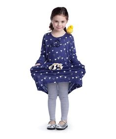 Look at this #zulilyfind! Navy Blue Chick Samode Dress - Toddler & Girls #zulilyfinds