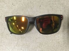 8667af74f9 Oakley Holbrook Style Sunglasses Matte Black amp Red Frames With Mirrored  Lenses  fashion  clothing