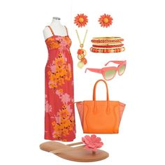 Salmon/Tangerine Maternity Love by miclynn1974 on Polyvore