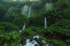 Benang Stokel and Kelambu Twins Waterfalls Hiking and Trekking | Mount Rinjani Lombok