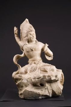 Marble seated statue of Vajrapani, Tang Dynasty. Collection of Xian Beilin Museum, Shaanxi Province, China