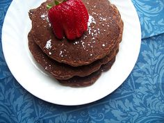 Whole wheat chocolate pancakes. Yummy, inexpensive, and healthier than your average nutritionless pancake.
