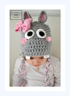❤ Baby Kinder HIPPO Mütze Häkelanleitung ❤