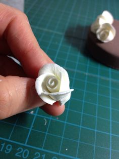 How to Make a Mini Clay Rose. This is a great tutorial, the pictures are also very good.